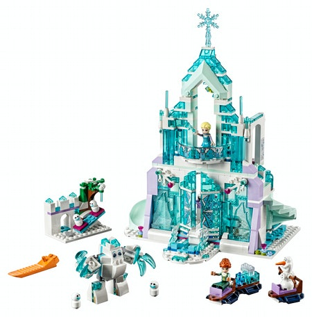 LEGO Disney Princess Elsa's Magical Ice Palace 43172 Toy Castle Building Kit with Mini Dolls