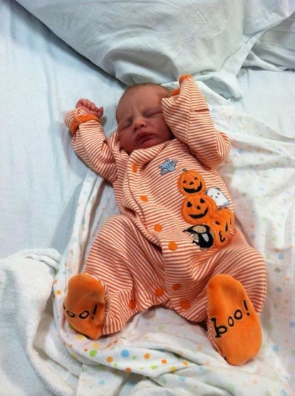 Having a baby on Halloween is the best.