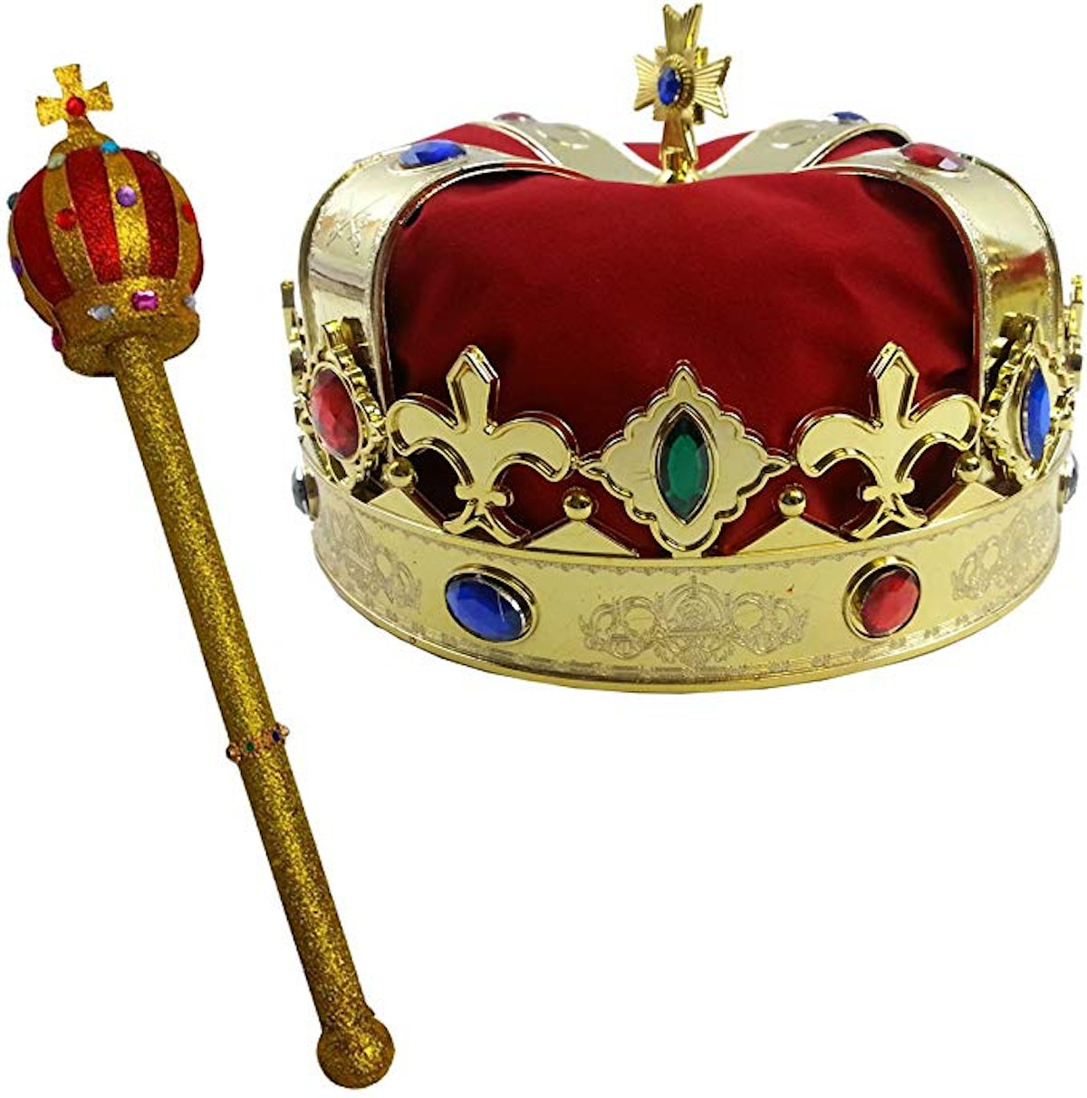 Funny Party Hats Kings Crown and Scepter