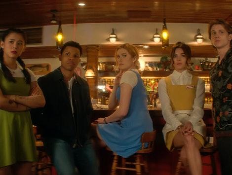 The Nancy Drew cast in the new spooky CW show.