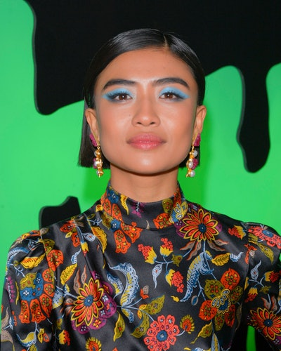 Brianne Tju's graphic makeup look nailed this fall 2019 eyeshadow trend