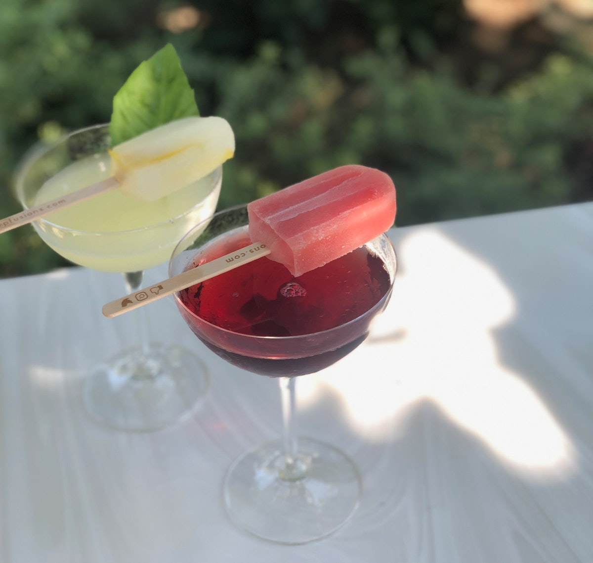 These limoncello and sangria cocktails are Instagrammable Disney drinks that come with popsicles on top.