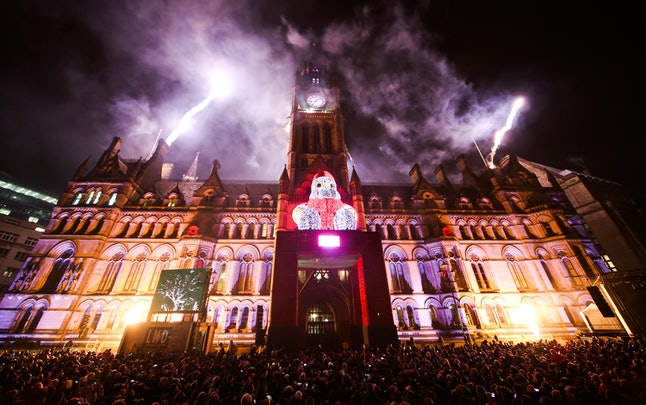 Manchester's Christmas light display is unlike any other in the UK