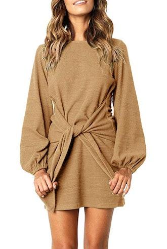 R.Vivimos Tie Waist Sweater Dress