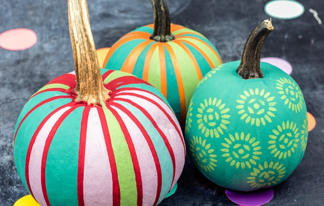 DIY Stencil Pumpkin Design Handmade Charlotte