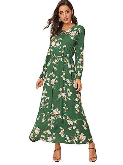 Milumia Floral Print Midi Dress