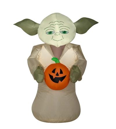 3.5ft. Airblown® Inflatable Halloween Star Wars Yoda Holding Pumpkin