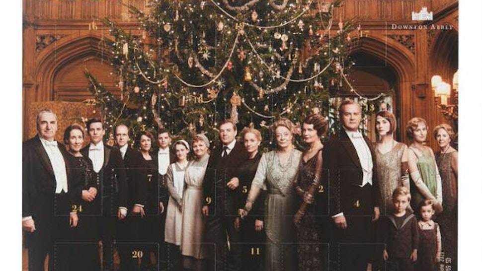 Downton Abby advent calendar chocolate