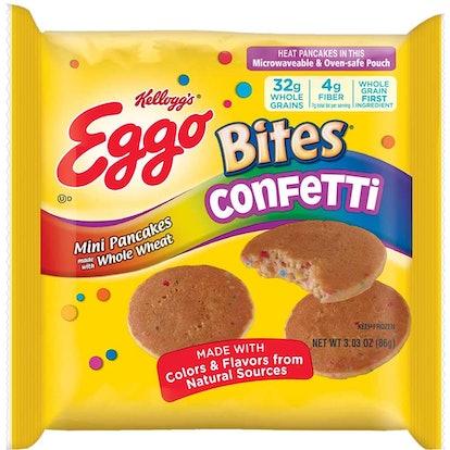 New Kellogg's Eggo Bites Confetti Pancakes Are Birthday Cake Flavored