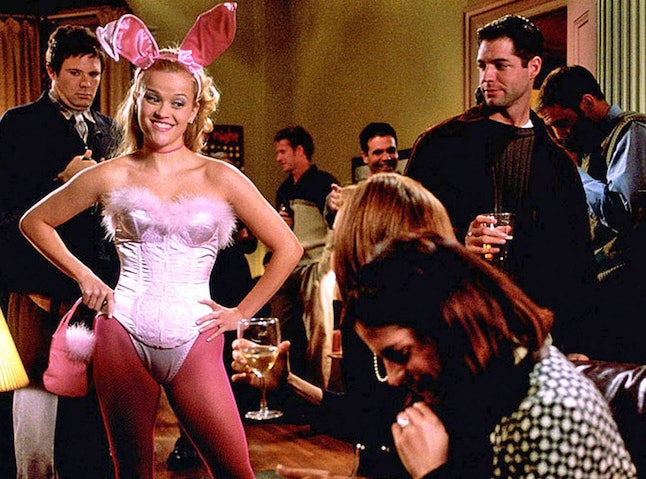 Rabbits and bunnies, like Elle Woods's costume in 'Legally Blonde,' are popular Halloween costumes.