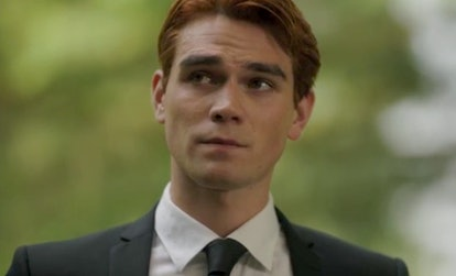 Archie tears up while delivering his eulogy for Fred Andrews in 'Riverdale's Luke Perry tribute epis...