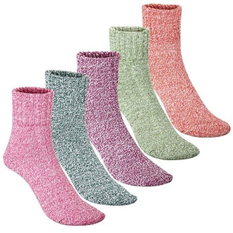 Thick Wool Blend Socks (5-Pack)