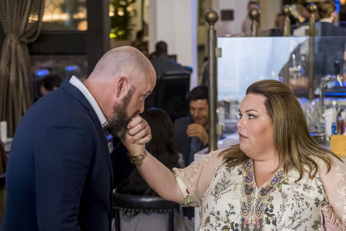 Kate (Chrissy Metz) and Toby (Chris Sullivan) in This Is Us