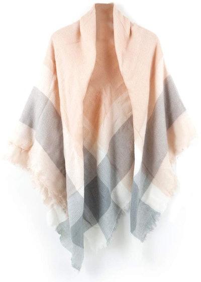 Neal LINK Women's Cozy Tartan Blanket Scarf