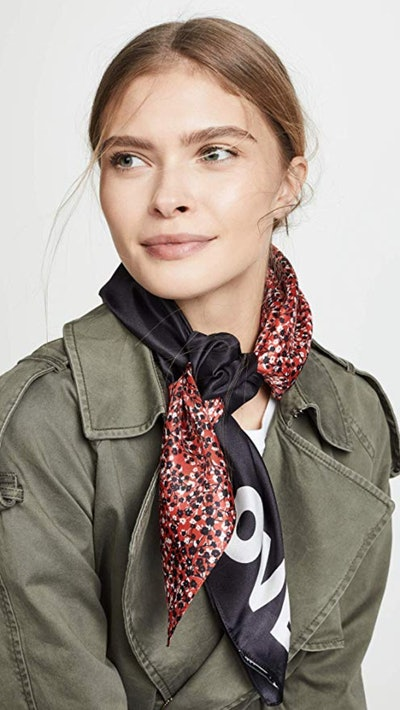 Rebecca Minkoff Women's Mini Pop Silk Square Scarf