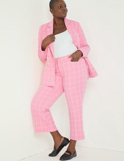 Windowpane Double-Breasted Blazer & Trousers