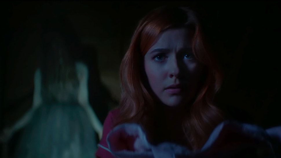 Lucy Sable appears as a ghost behind Nancy Drew in the new CW series based on the books.
