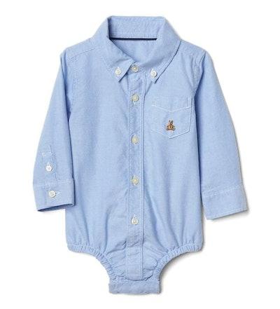 Baby Oxford Button-Up Bodysuit