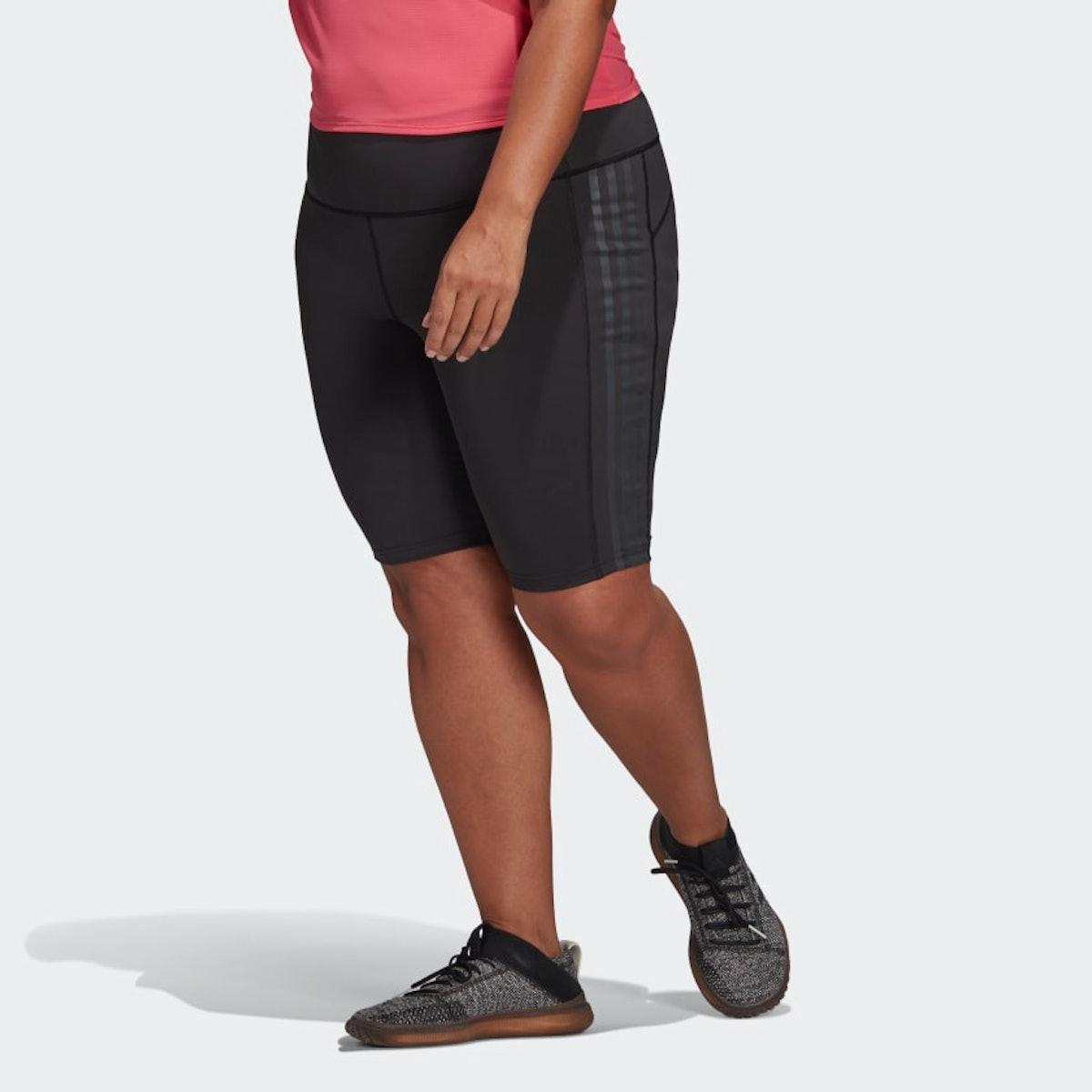 "Adidas x Universal Standard 3-Stripes Short Tights in ""Black"""
