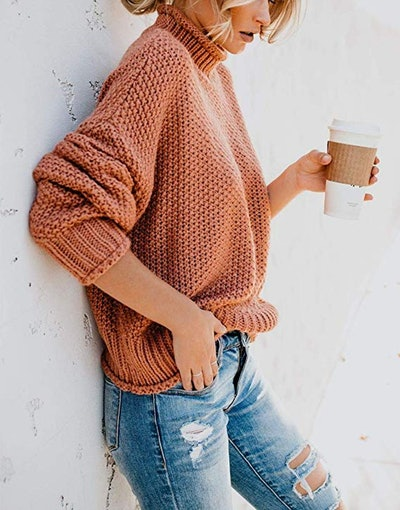 Saodimallsu Oversized Turtleneck Sweater