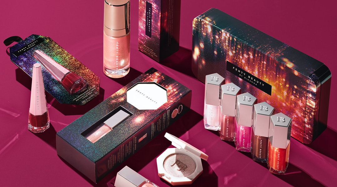 Fenty Beauty's holiday 2019 collection includes limited-edition highlighter, lip gloss, matte lipstick, and body lava luminizer