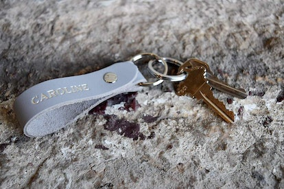 Personalized Custom Leather Keychain by Northwind Supply