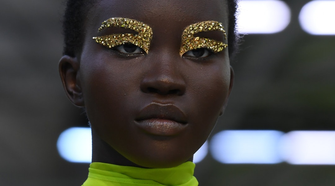 Test of Pat McGrath Labs' Obsessive Opulence collection on the runway at Valentino