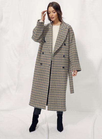 Prescott Wool Houndstooth Coat