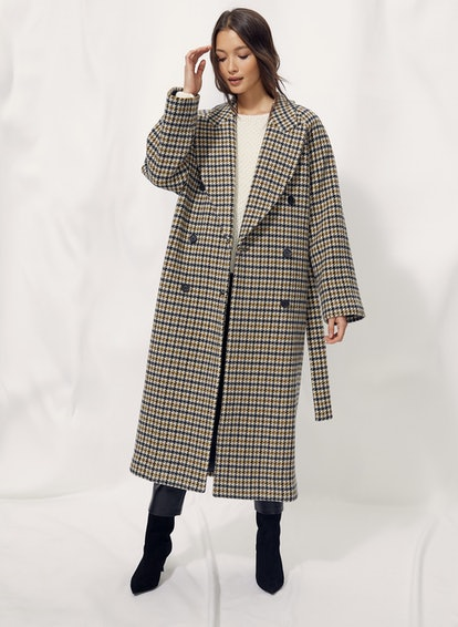 Prescott Wool Houndstooth Coat