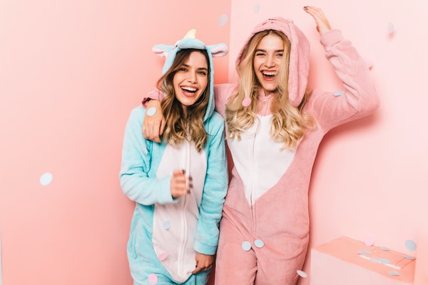 These unicorn onesies are really clever Halloween costume ideas.
