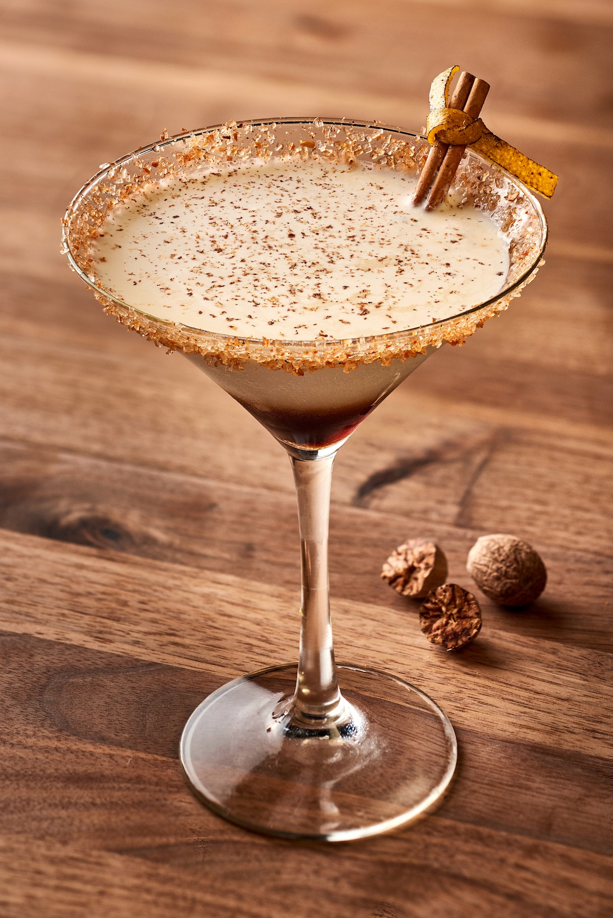 This Pumpkin White Russian is an Instagrammable Disney drink that's in a sugar-rimmed martini glass.