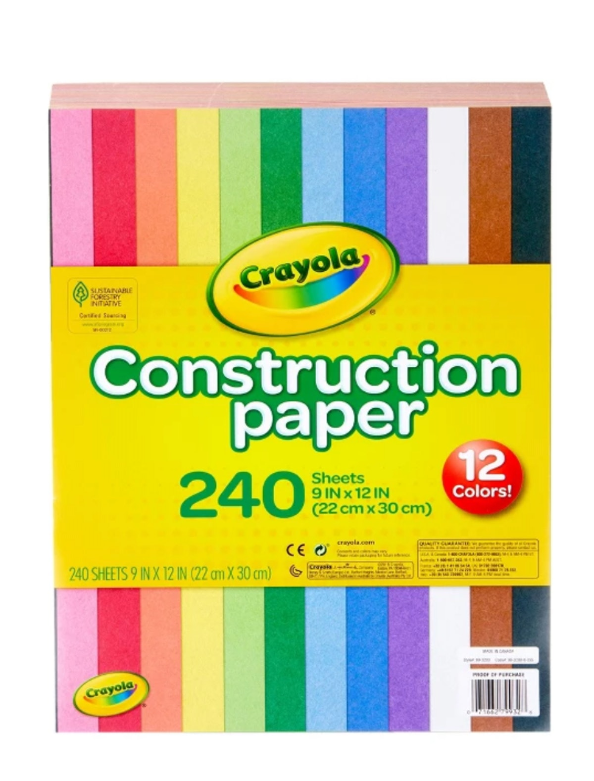 "Crayola® Construction Paper 9"" x 12"" 240ct"