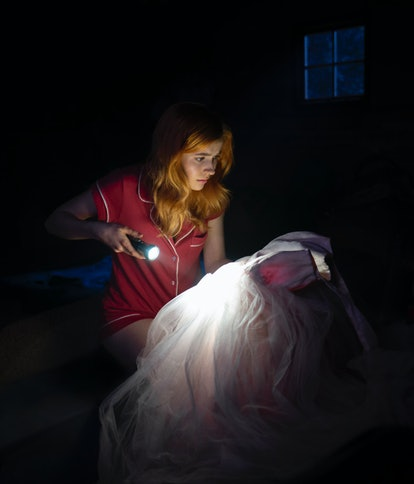 Nancy Drew finds Lucy Sable's dress in her attic in the new CW series.