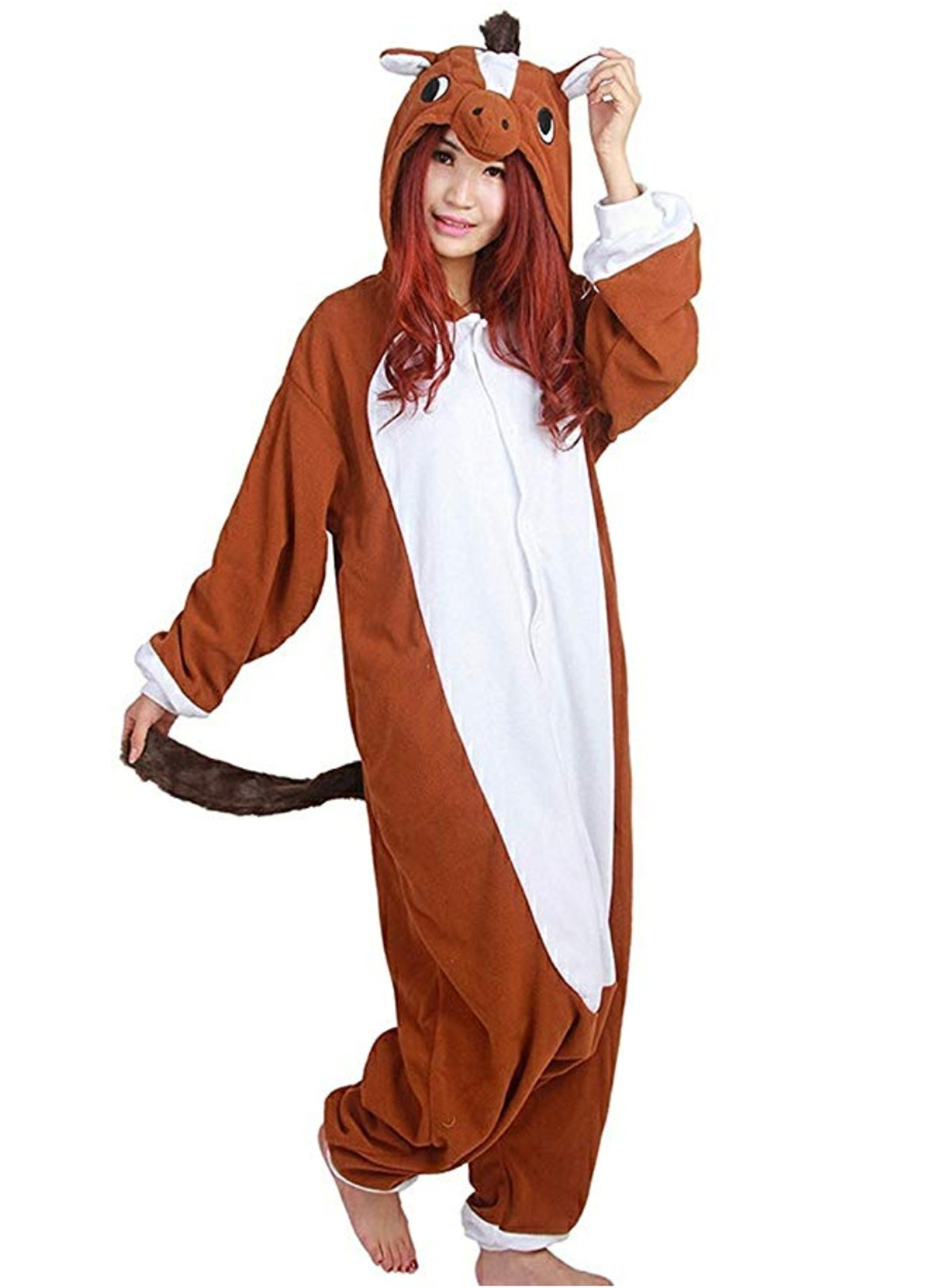 Xiqupjs Adult Onesie Animal Pajamas Cosplay Costume One Piece Halloween Sleepwear For Women Teens