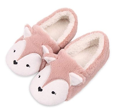 Fox Fleece Animal Slippers