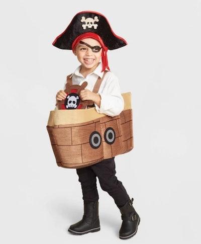 Toddler Boy's Blackbeard Pirate Ship Halloween Costume