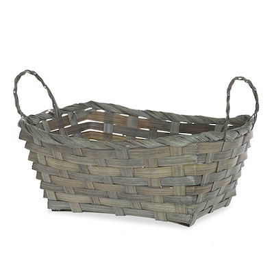 Rect. Bamboo Utility Basket in Antique Grey