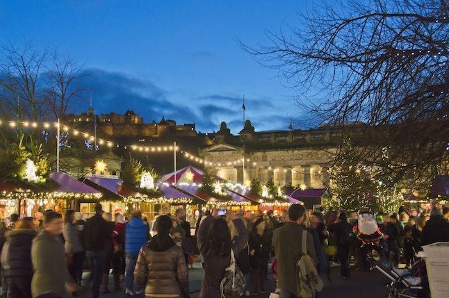 Edinburgh's Christmas light displays are spectacular