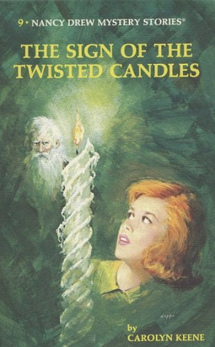 The Nancy Drew book The Sign of the Twisted Candles by Carolyn Keene