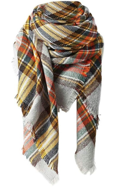 Spring Fever Plaid Blanket Scarf
