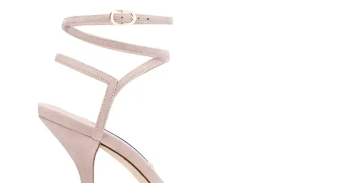 Stuart Weitzman's Merinda Heels Are A Fresh Take On The Nudist Sandal & They're Already A Celeb Favorite