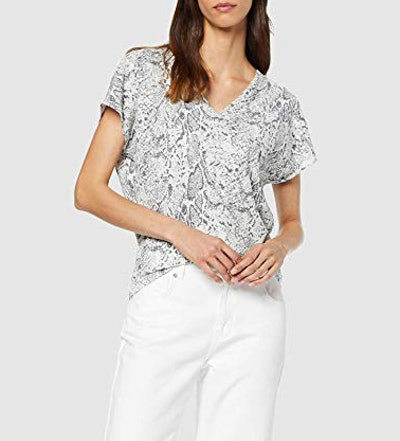 find. Snake Print V-Neck Top