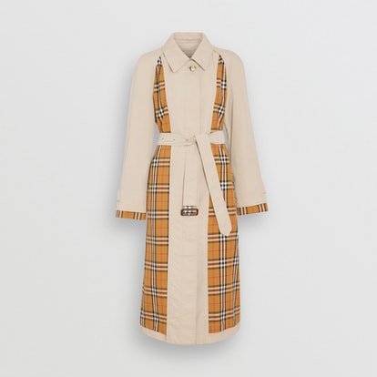 Vintage Check Gabardine Car Coat