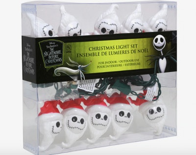 The Nightmare Before Christmas Jack Santa Hat String Lights