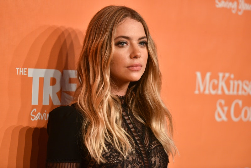 Ashley Benson's brown hair looks so different than her previous blonde look.