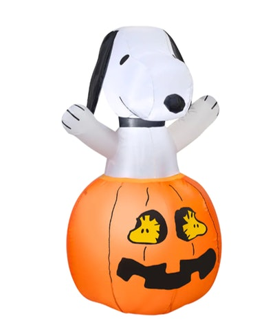 3ft. Airblown® Inflatable Halloween Peanuts™ Snoopy In Pumpkin with Woodstock