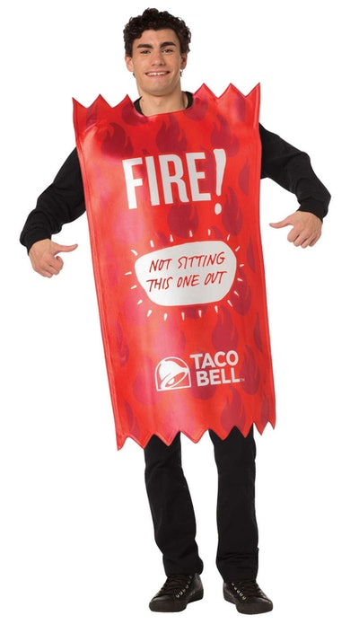 Taco Bell Fire Adult Sauce Packet Costume