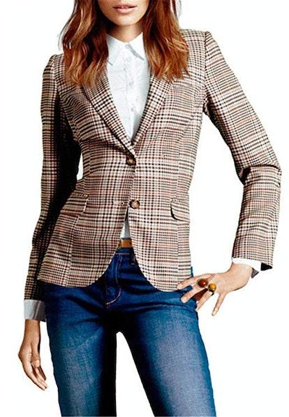 Bisual Vintage Checked Blazer