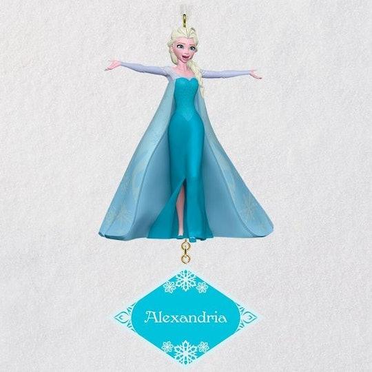 elsa personalized ornament, hallmark ornaments, frozen ornaments, elsa, frozen