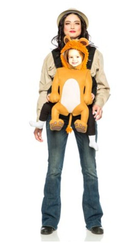 Safari Guide & Lion Baby Carrier Costume